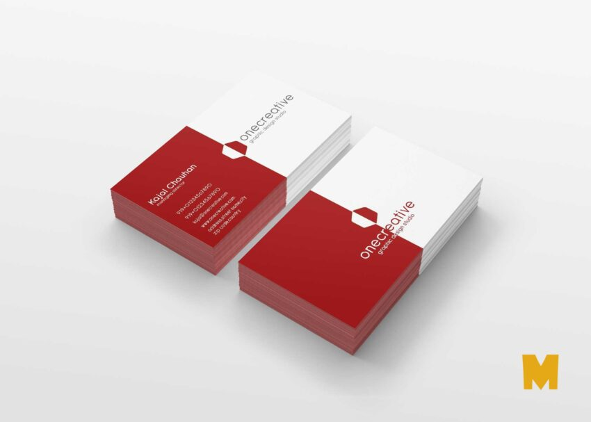 Free Red Business Card Design Mockup