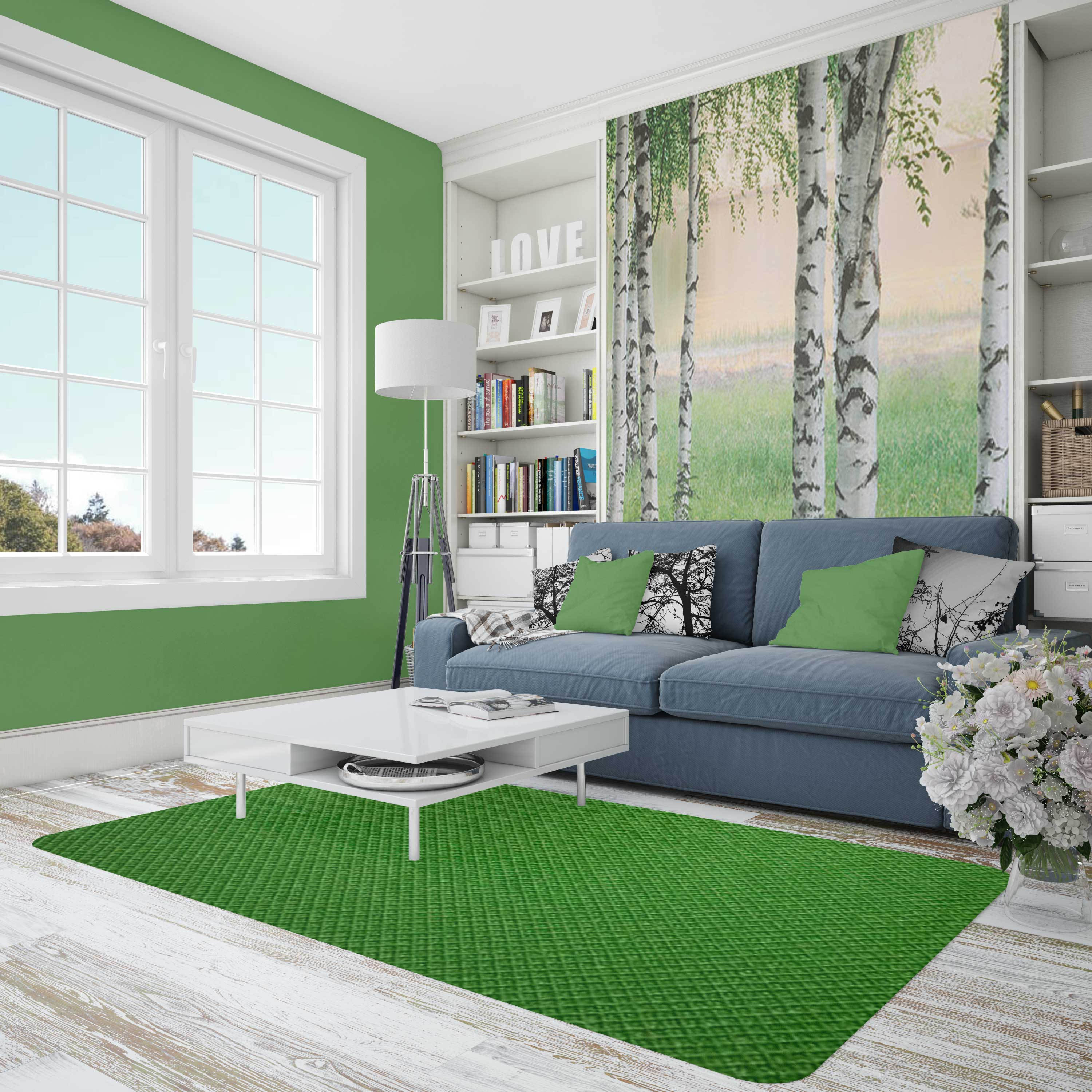 Free Room Painting Wall Canvas Mockup