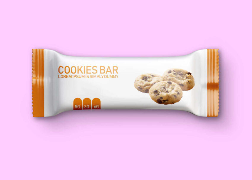 Free Flat Cookie Chocolate Packaging Mockup