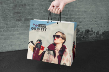 Hanging Shopping Bag Mockup