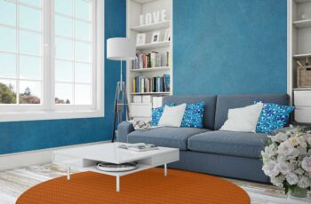 Free Living Room with Frames Mockup