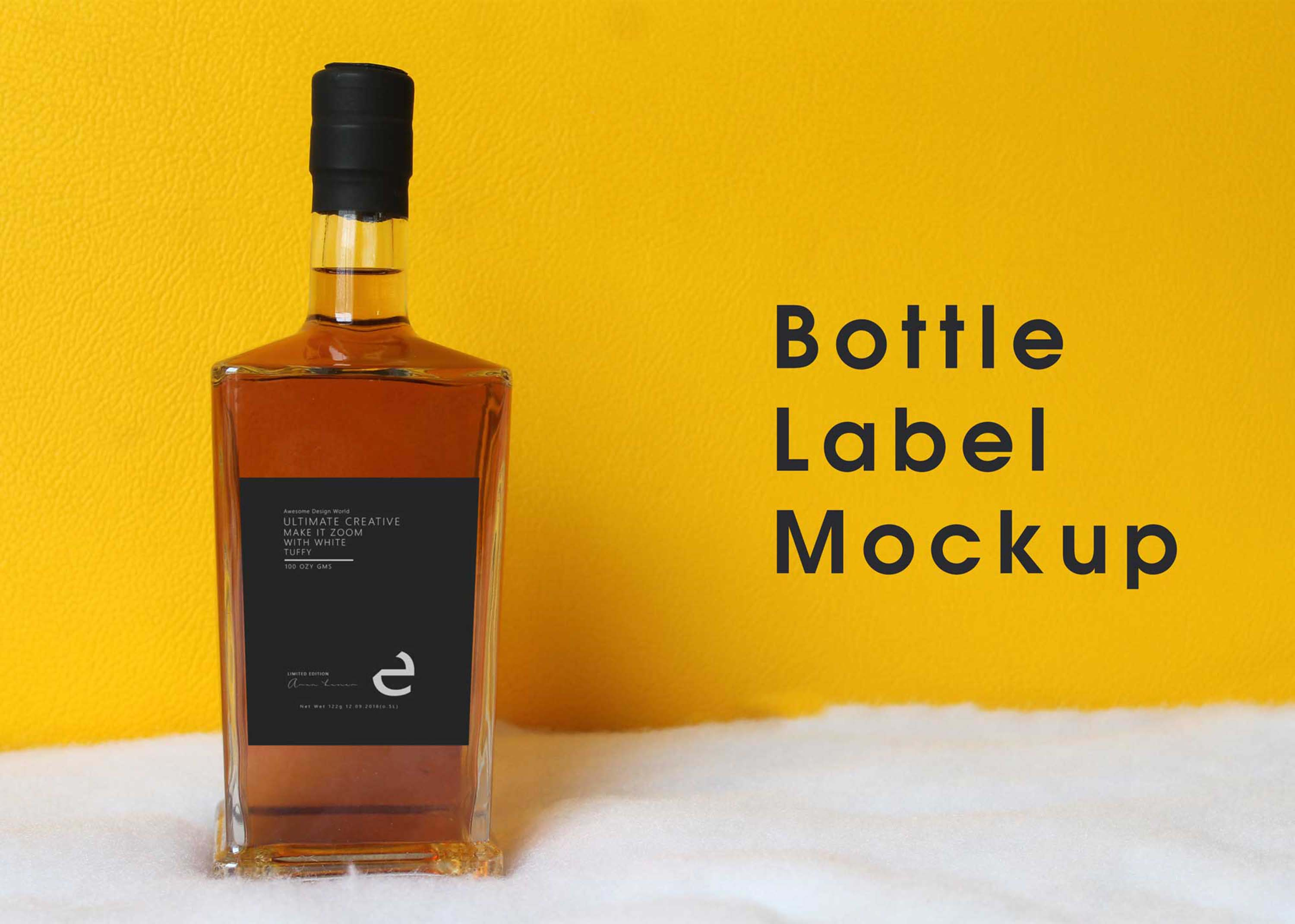 New Whiskey Bottle Label Mockup