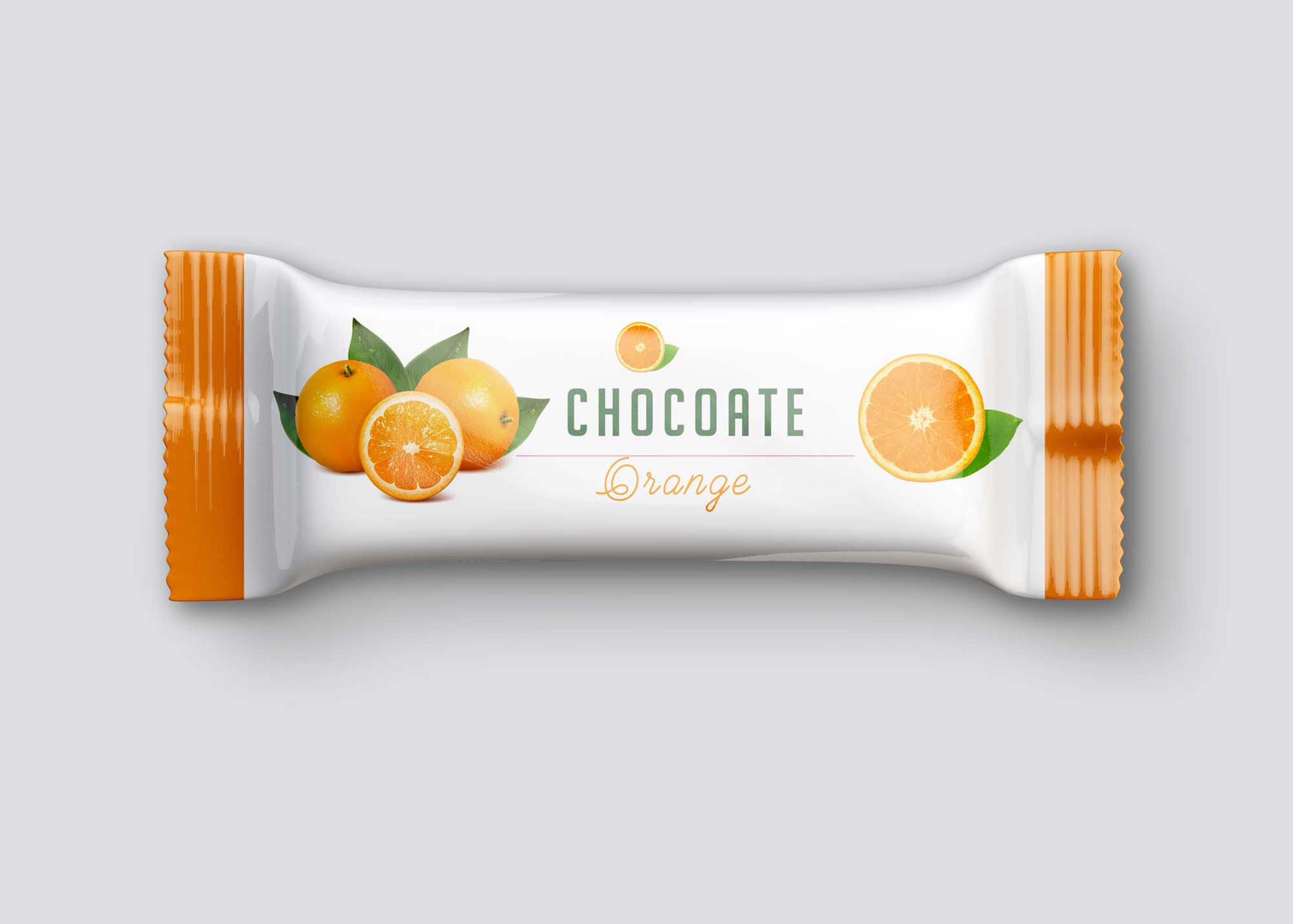 Free Orange Snack Bar Mockup