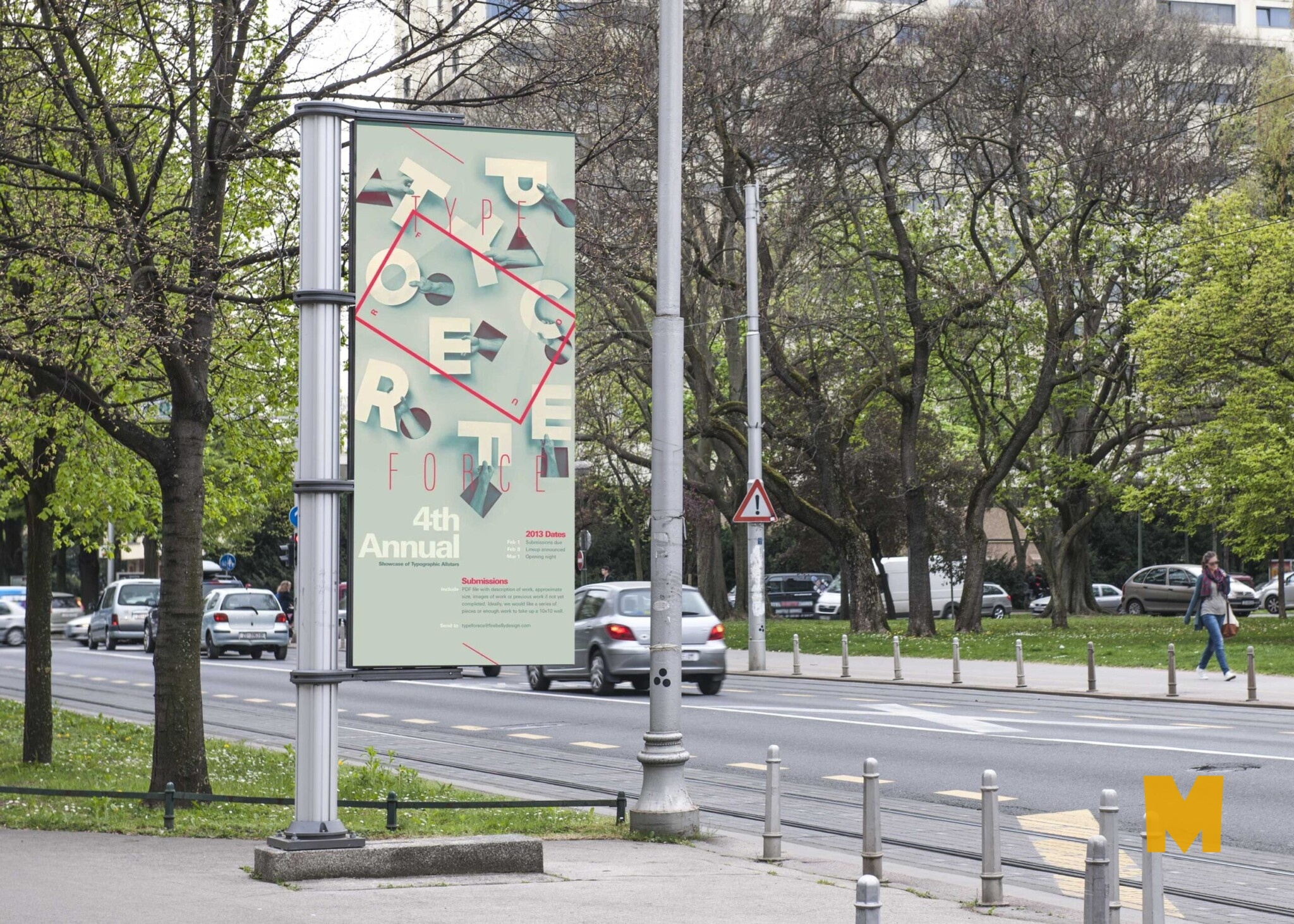 Free Outdoor Advertising Banner Mockup