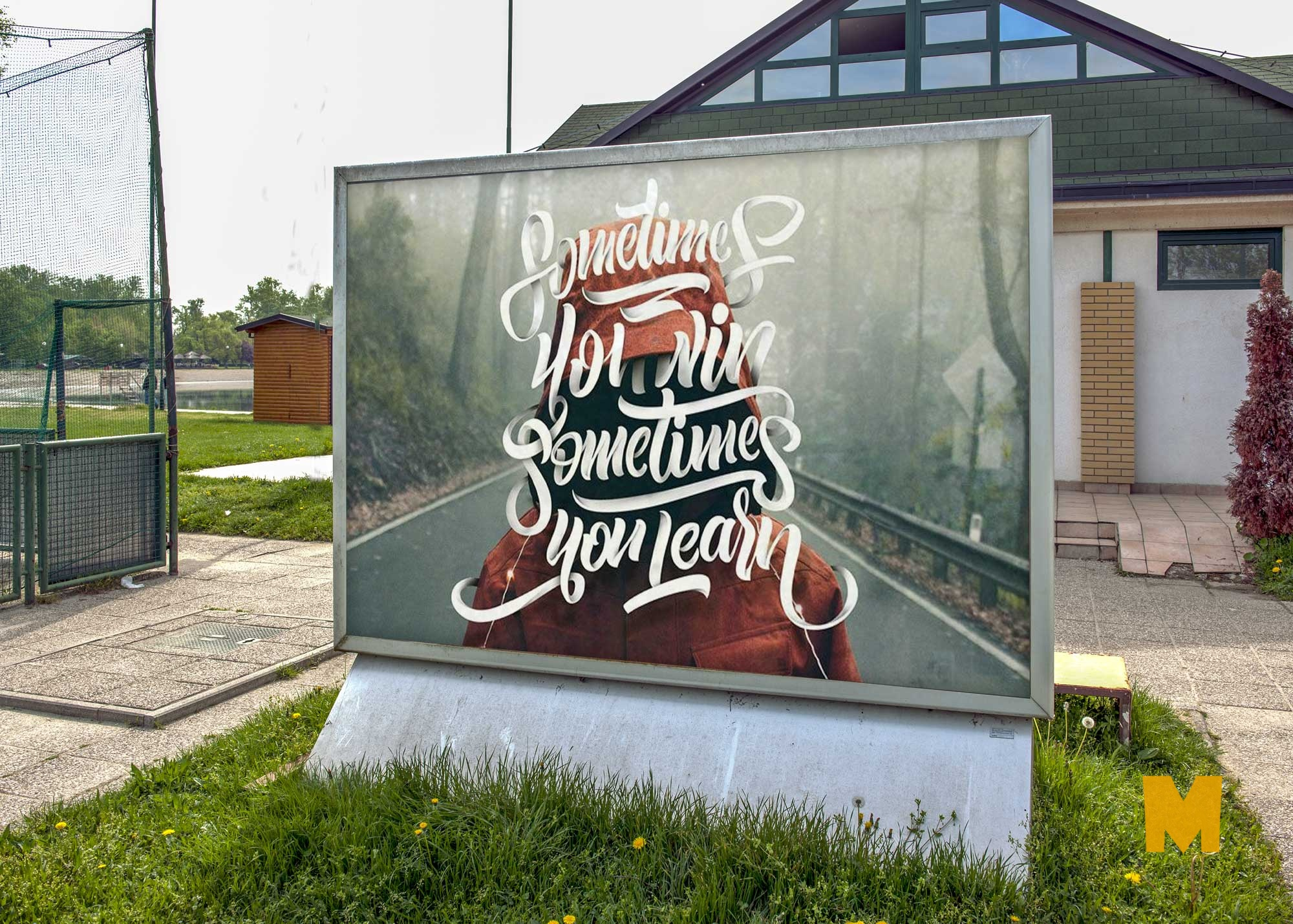 Free Outdoor Banner PSD Mockup