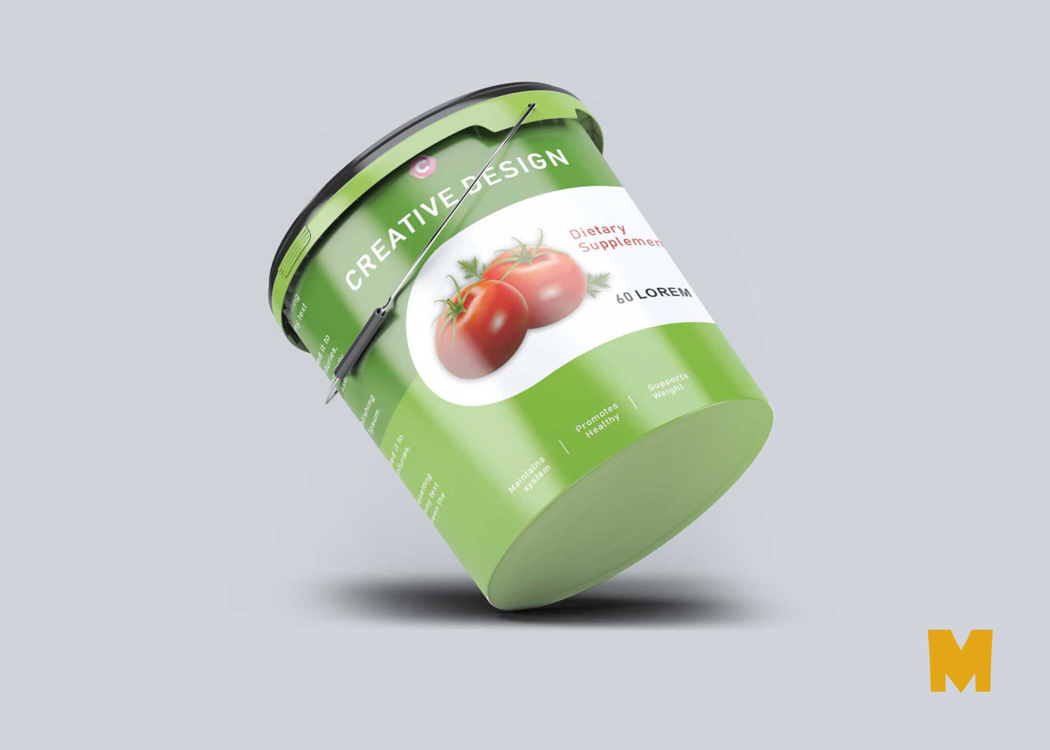 Free Plastic Food Bucket Mockup