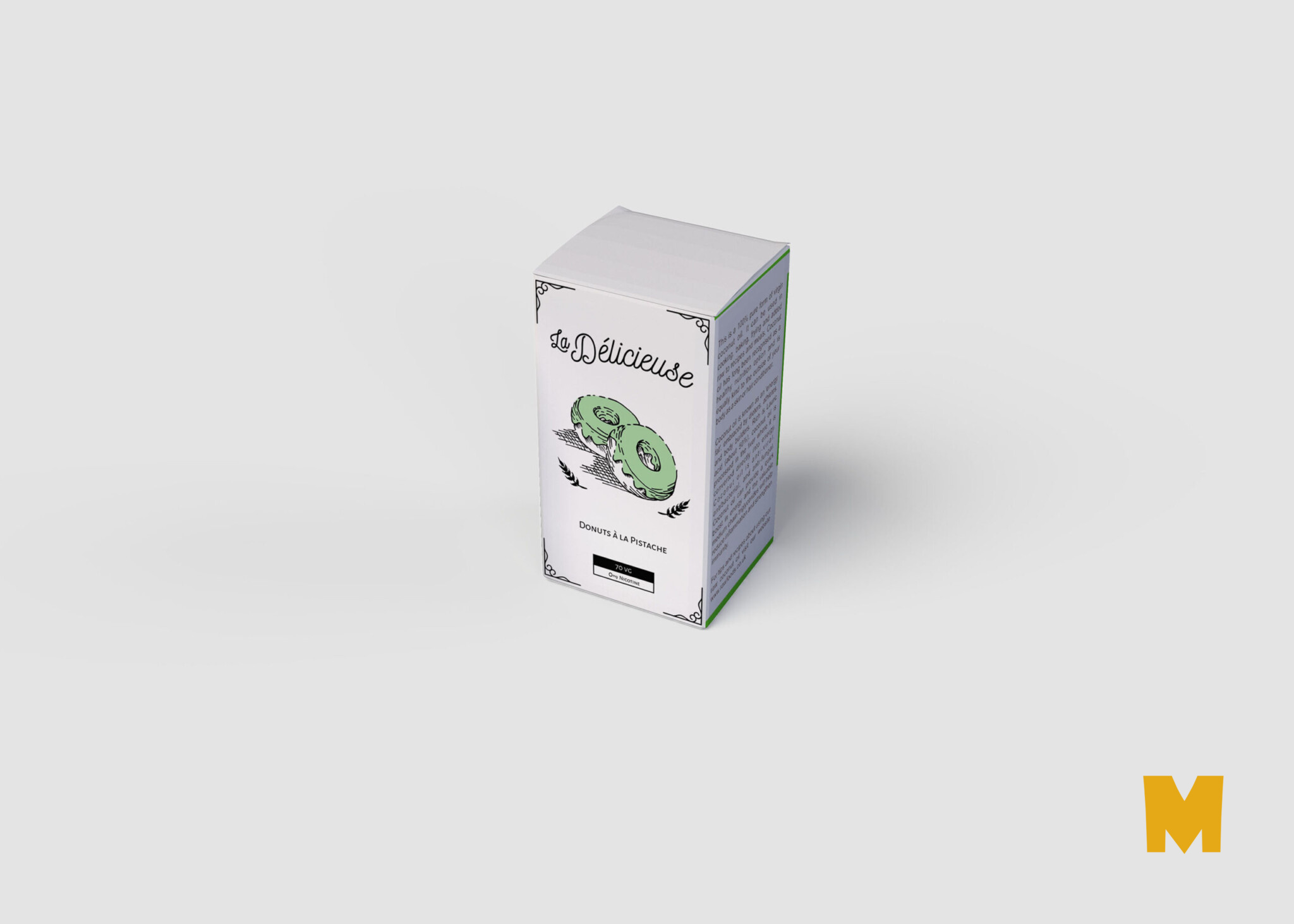 Small Bottle square box packaging Mockup