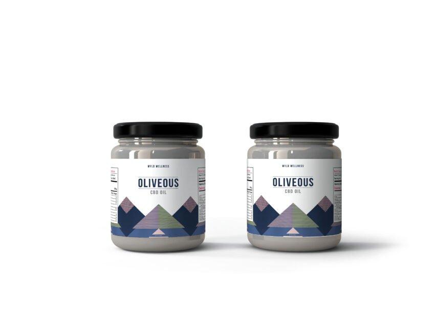 Kitchen Oil Packaging Jar Label Mockup