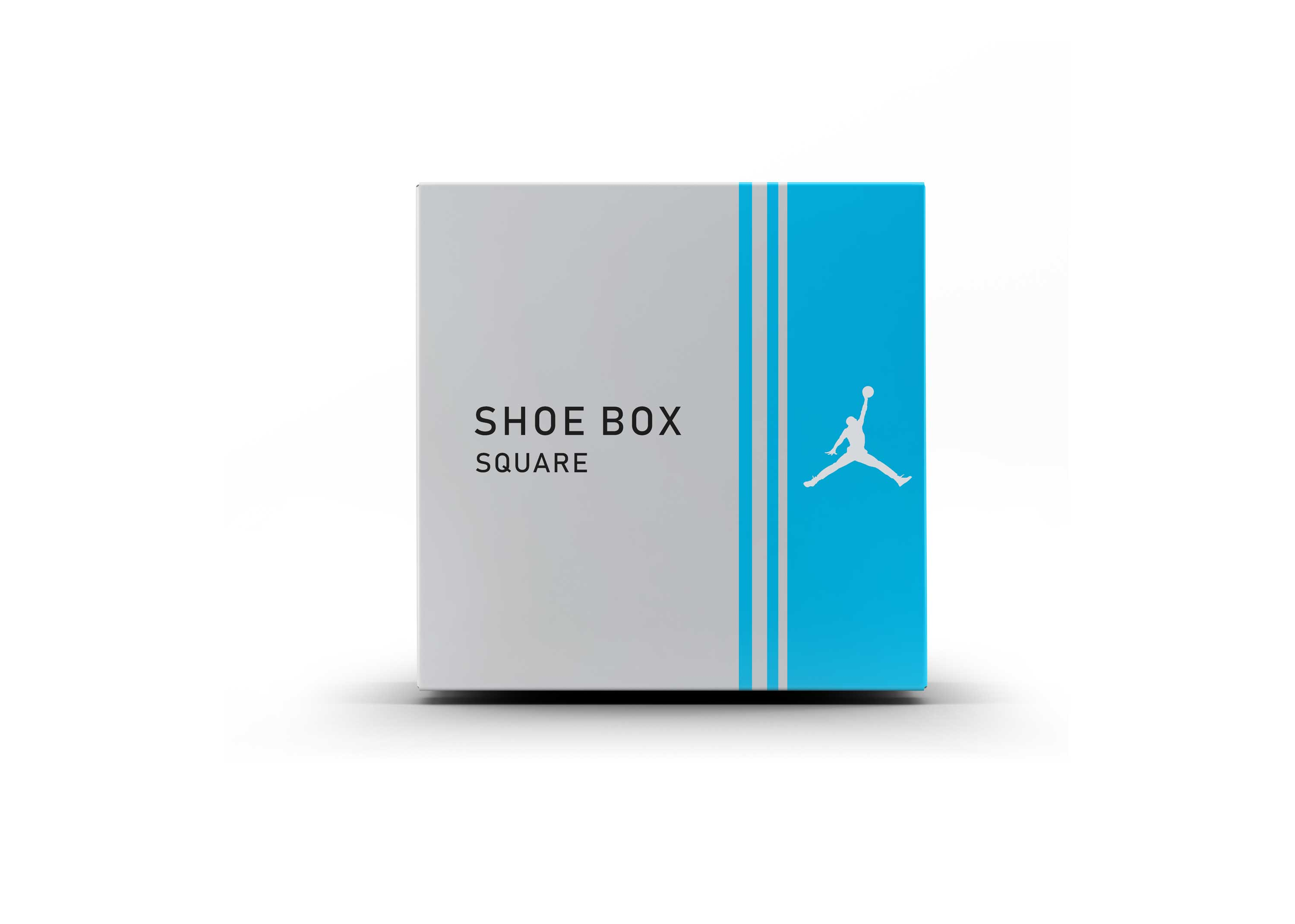 New Branded Shoes Box Label Mockup