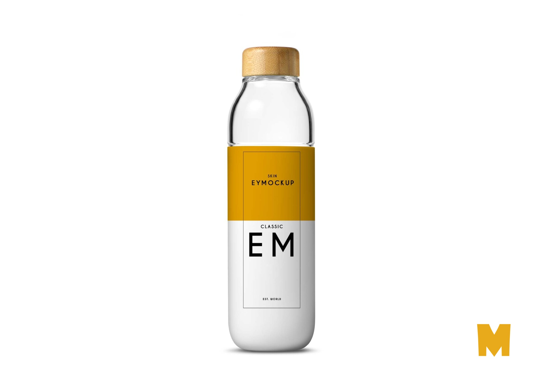 New Mineral Water Bottle Label Mockup
