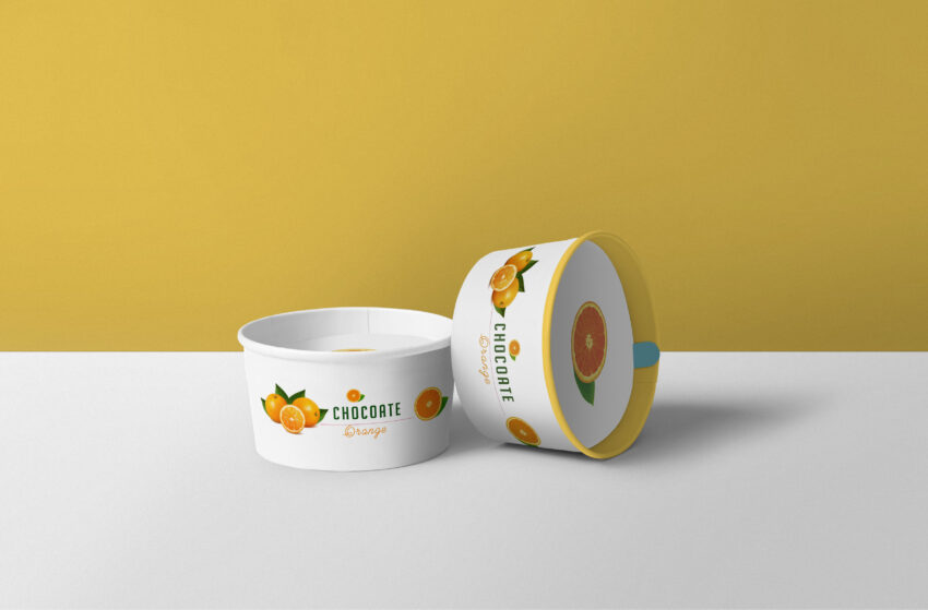 New Mother Dairy Ice Cream Cup Label Mockup