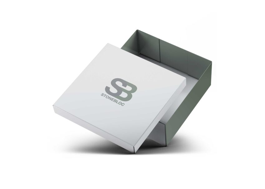 New Shoes Square Box Packaging Mockup