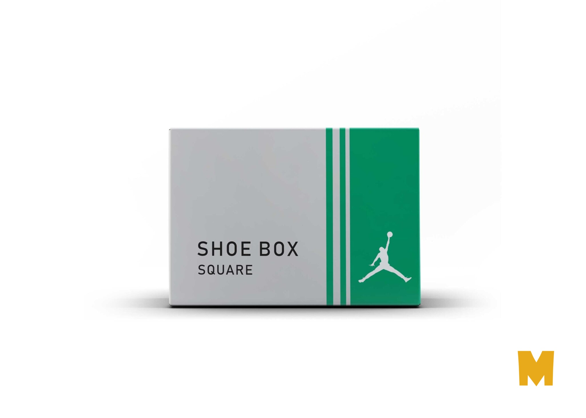 New Shoes Box Label Packaging Mockup