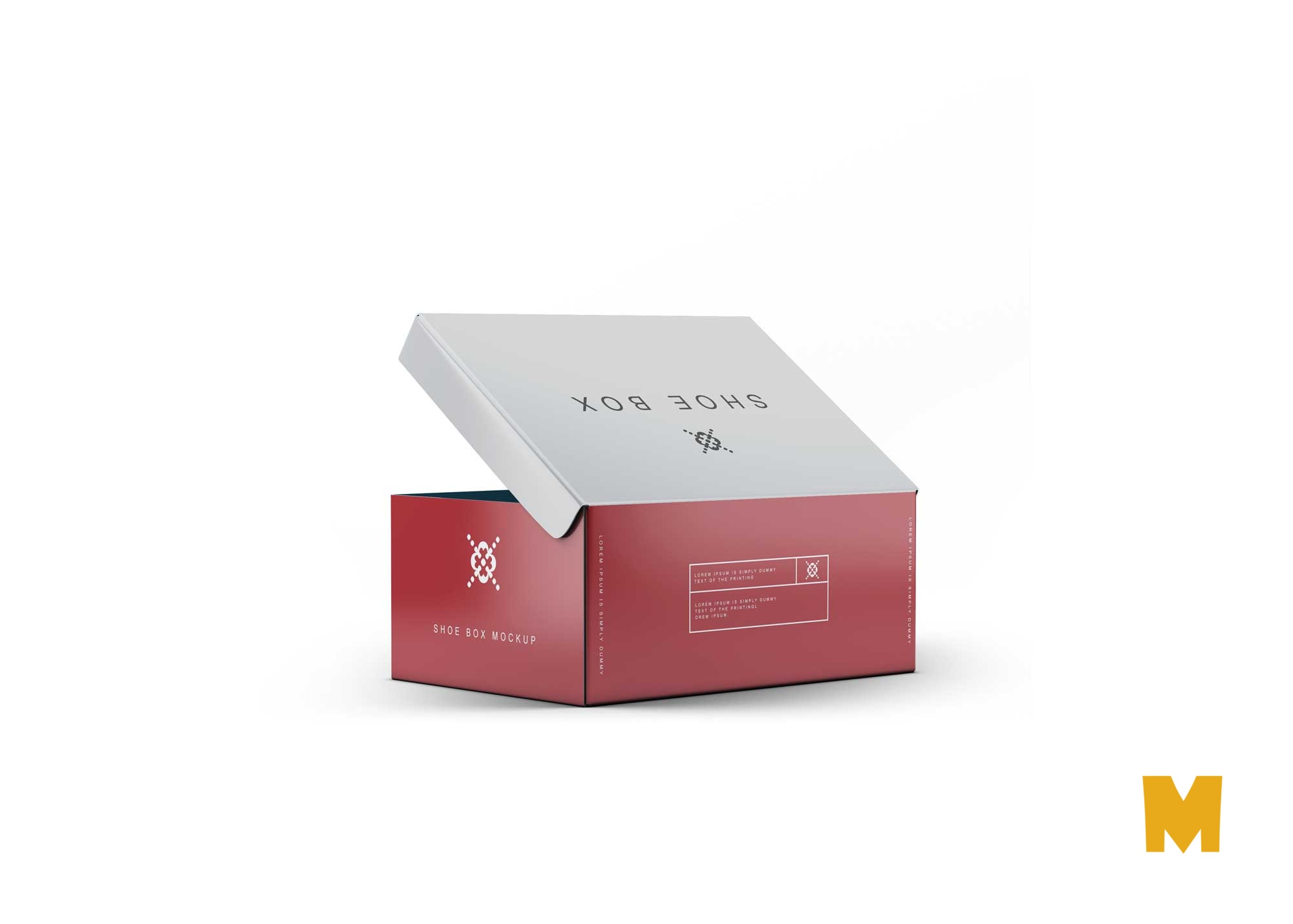 Premium Nike Shoes Box Packaging Mockup