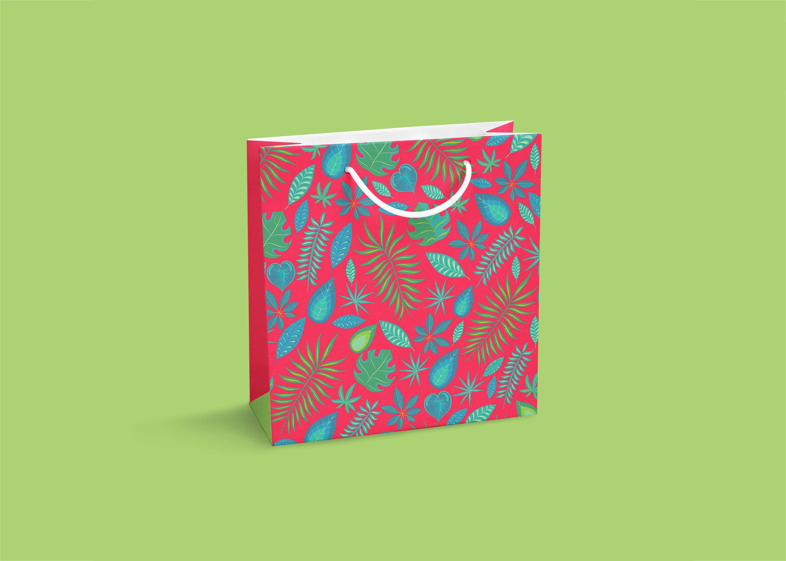 Premium Square Shopping Bag Mockup