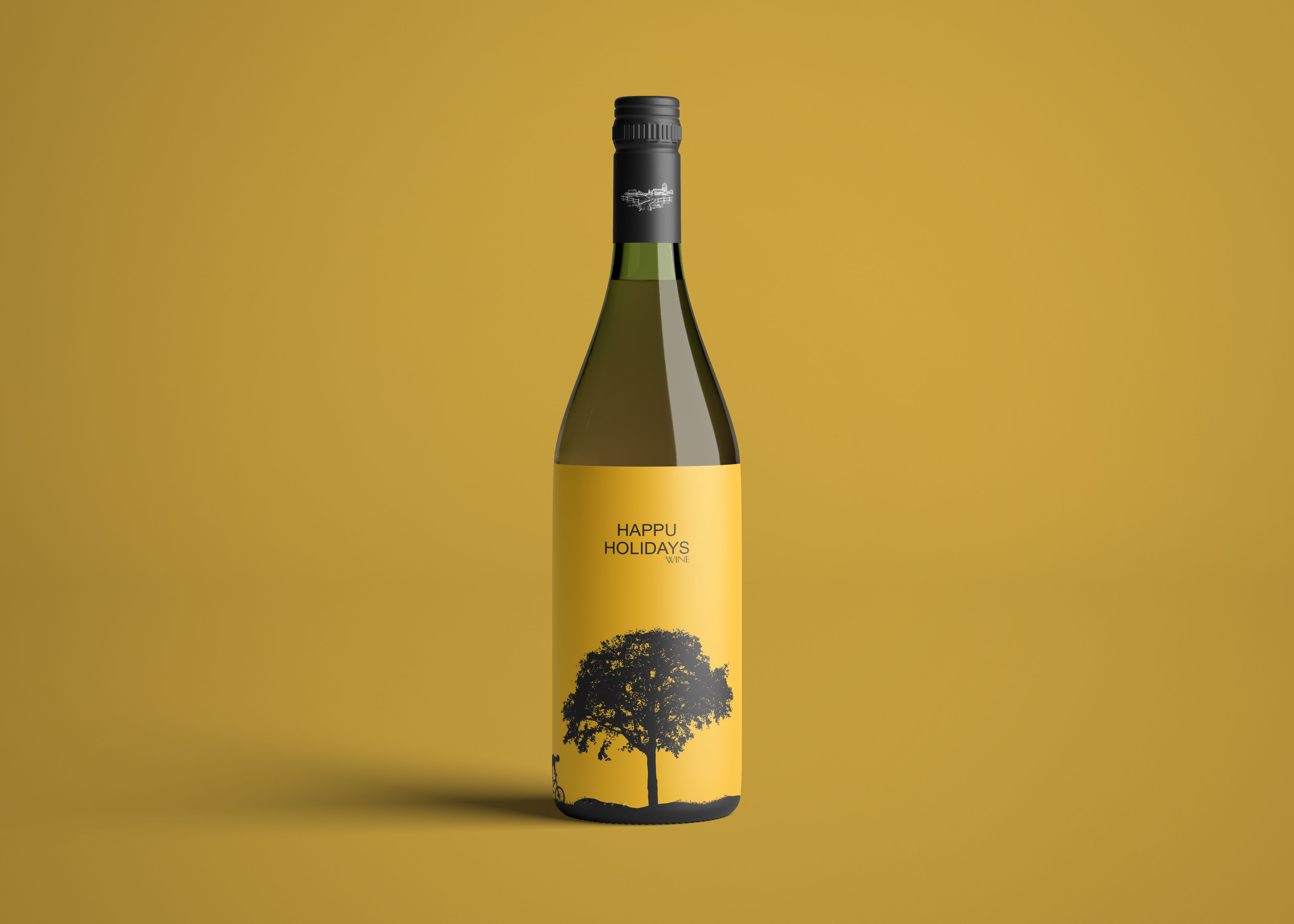 Premium Wine Bottle Label Mockup