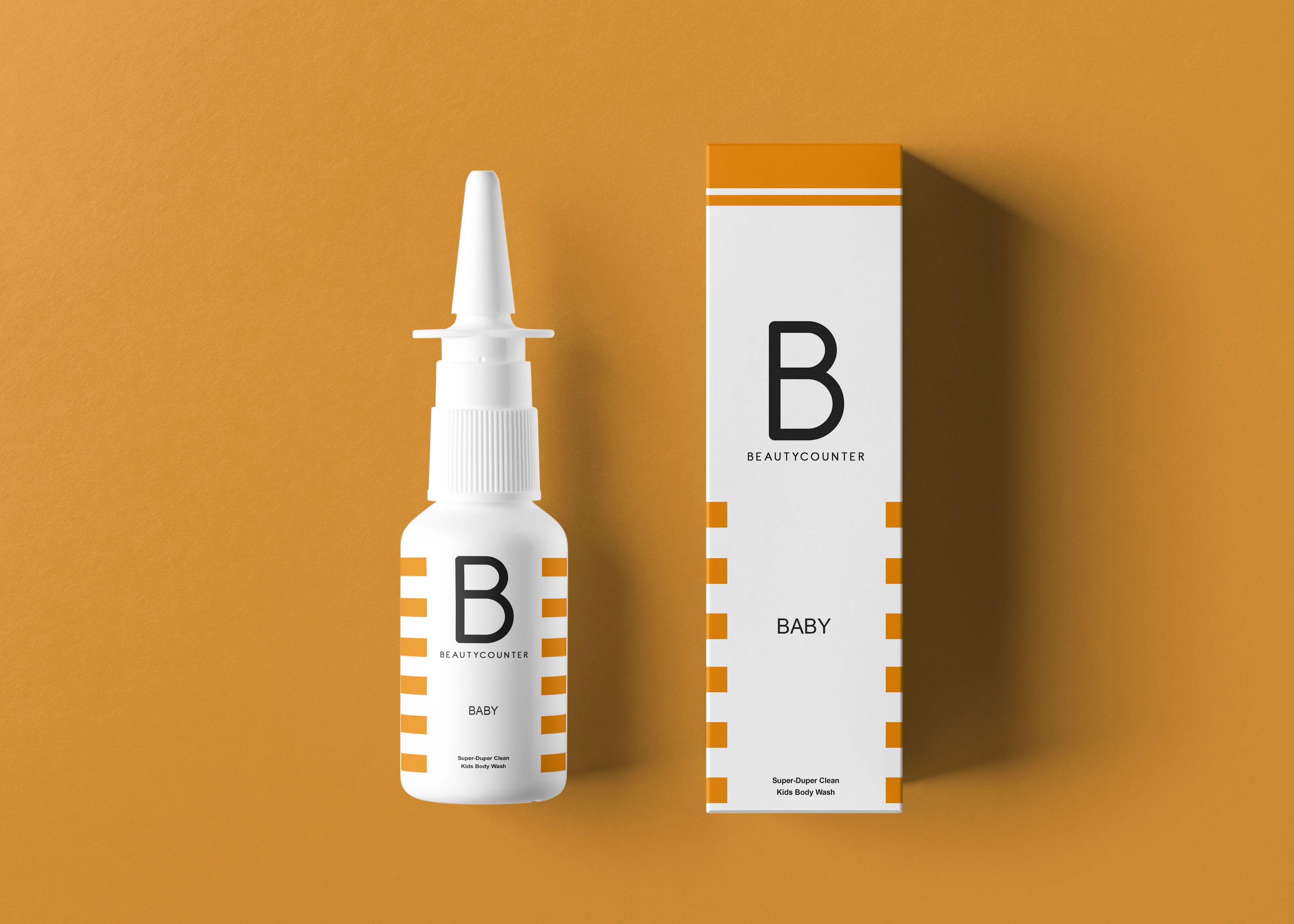 Small Nose Droplet Packaging Mockup