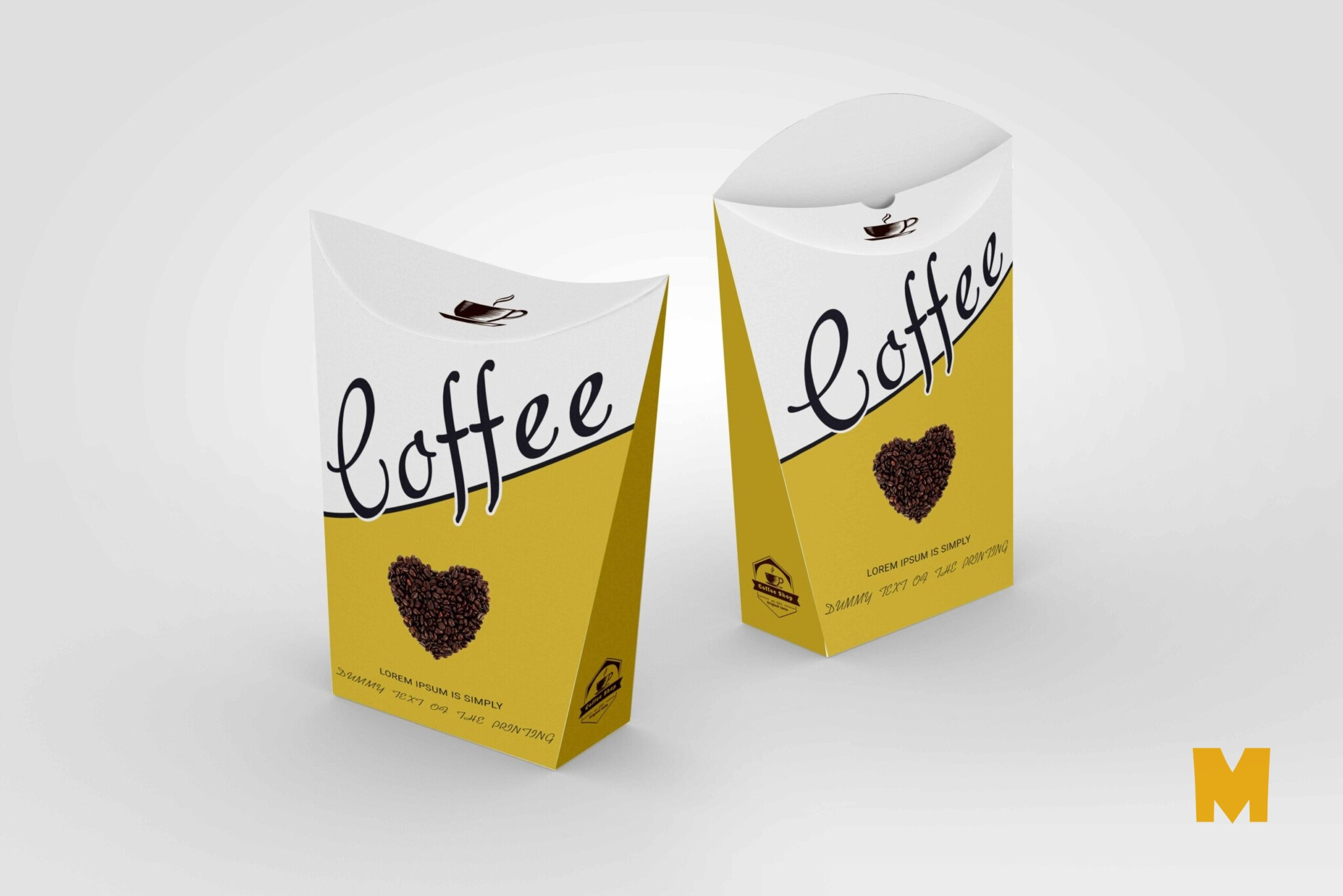 Standing Snack Paper Pouch Label Mockup