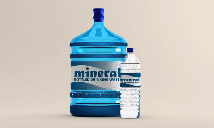 Colurful Water Bottle Mockup