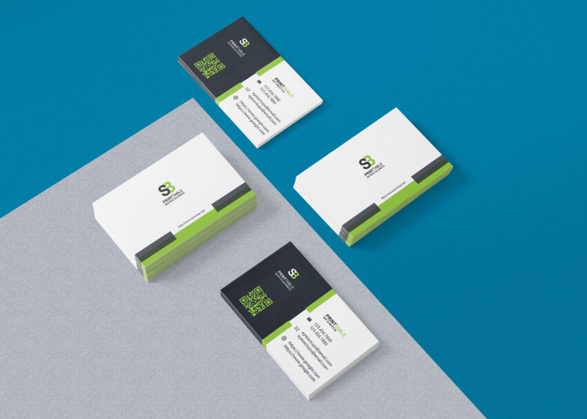 Free Beautiful Business Card Presentation Mockup