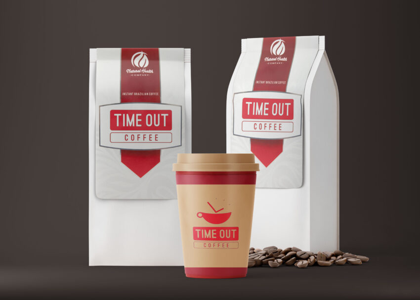 Free Best Coffee Bag Packaging Label Mockup