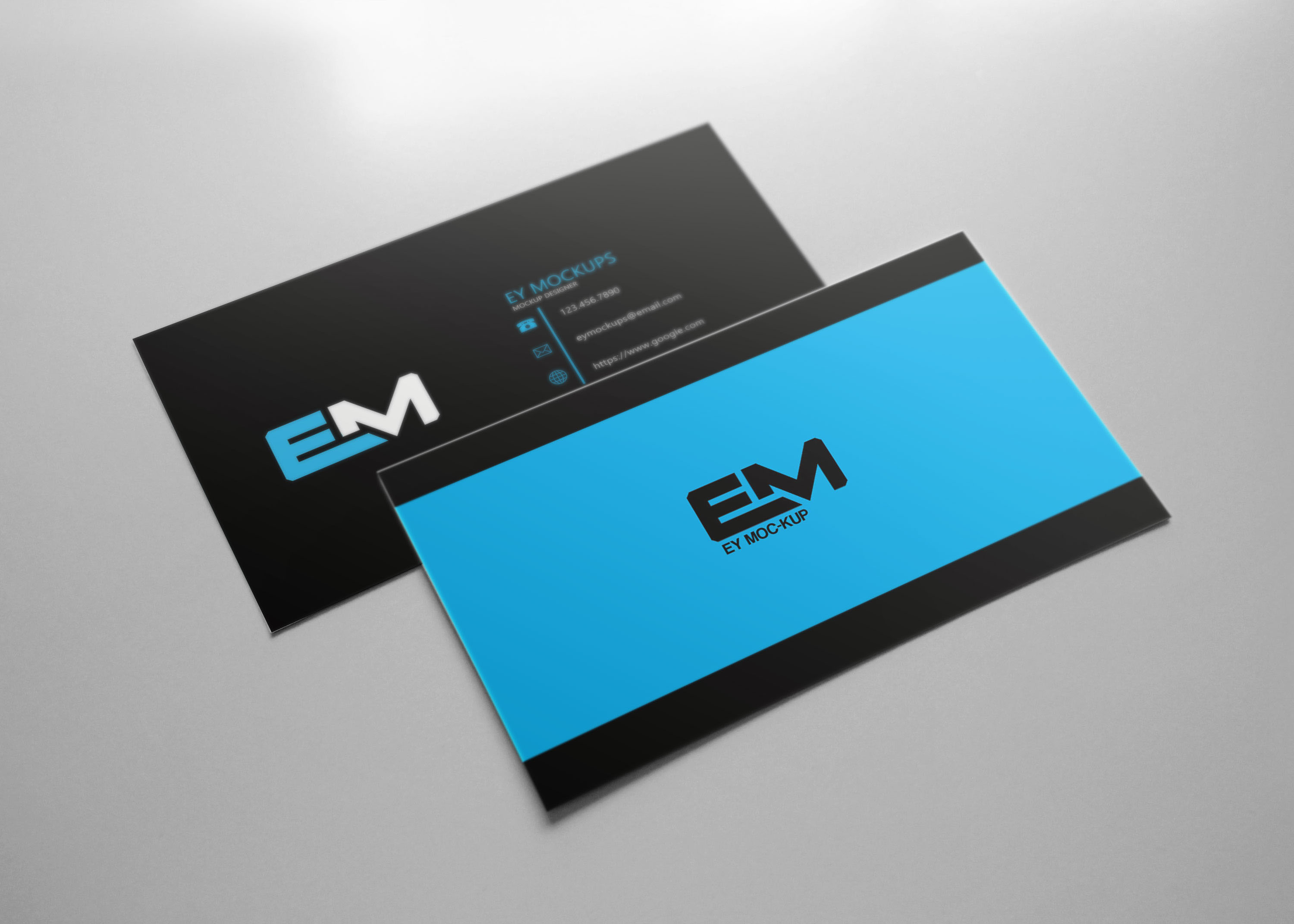 Free Blur Business Card Mockup