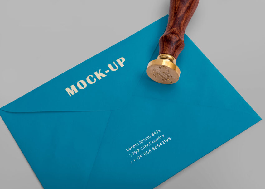 Free Envelope Stamp Design Mockup