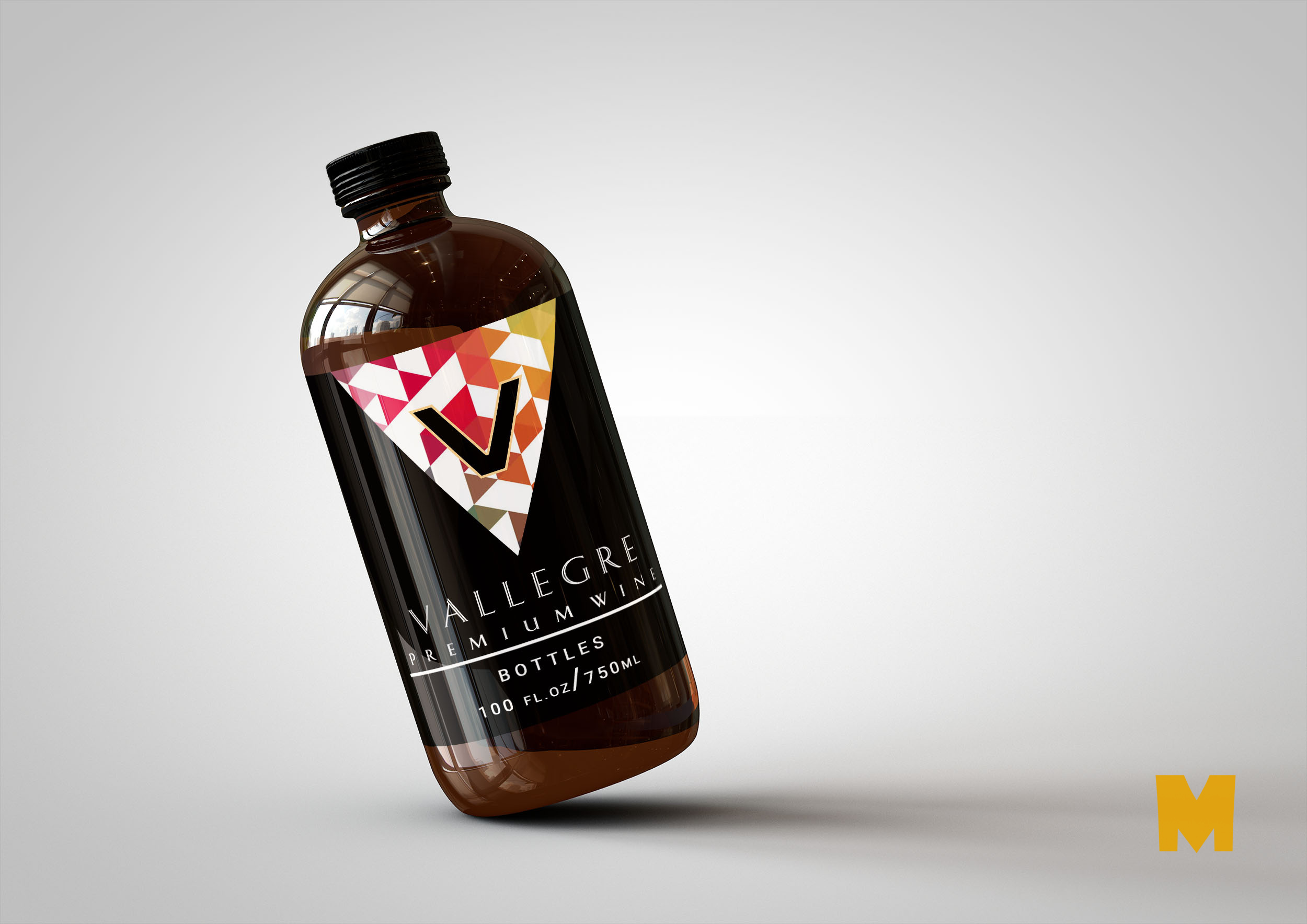 Free Liquor Bottle MockUp For Behance