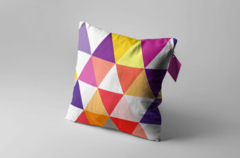 Free New Colorful Pillow Artwork Design Mockup