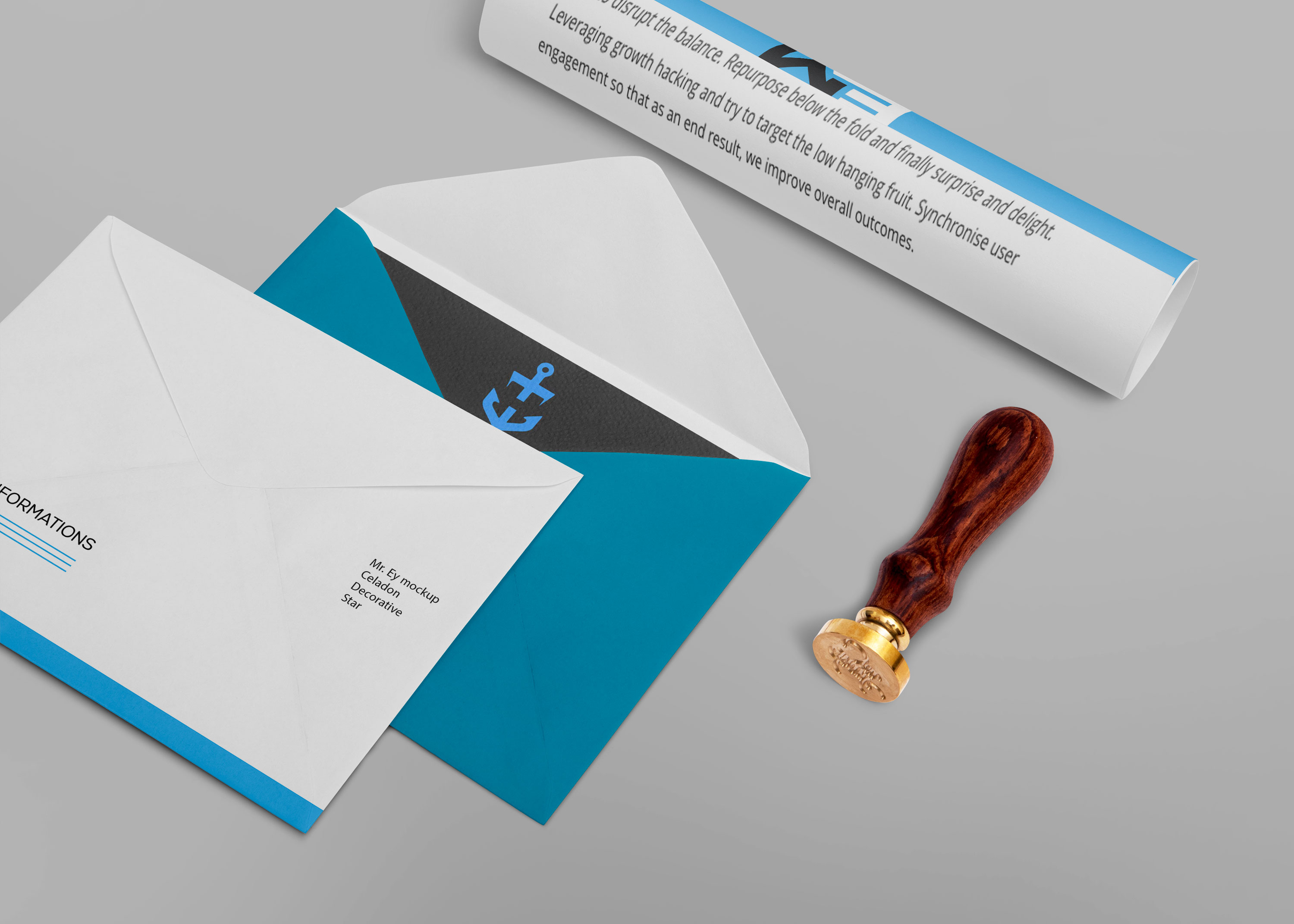 Free New Stationery Presentation Mockup