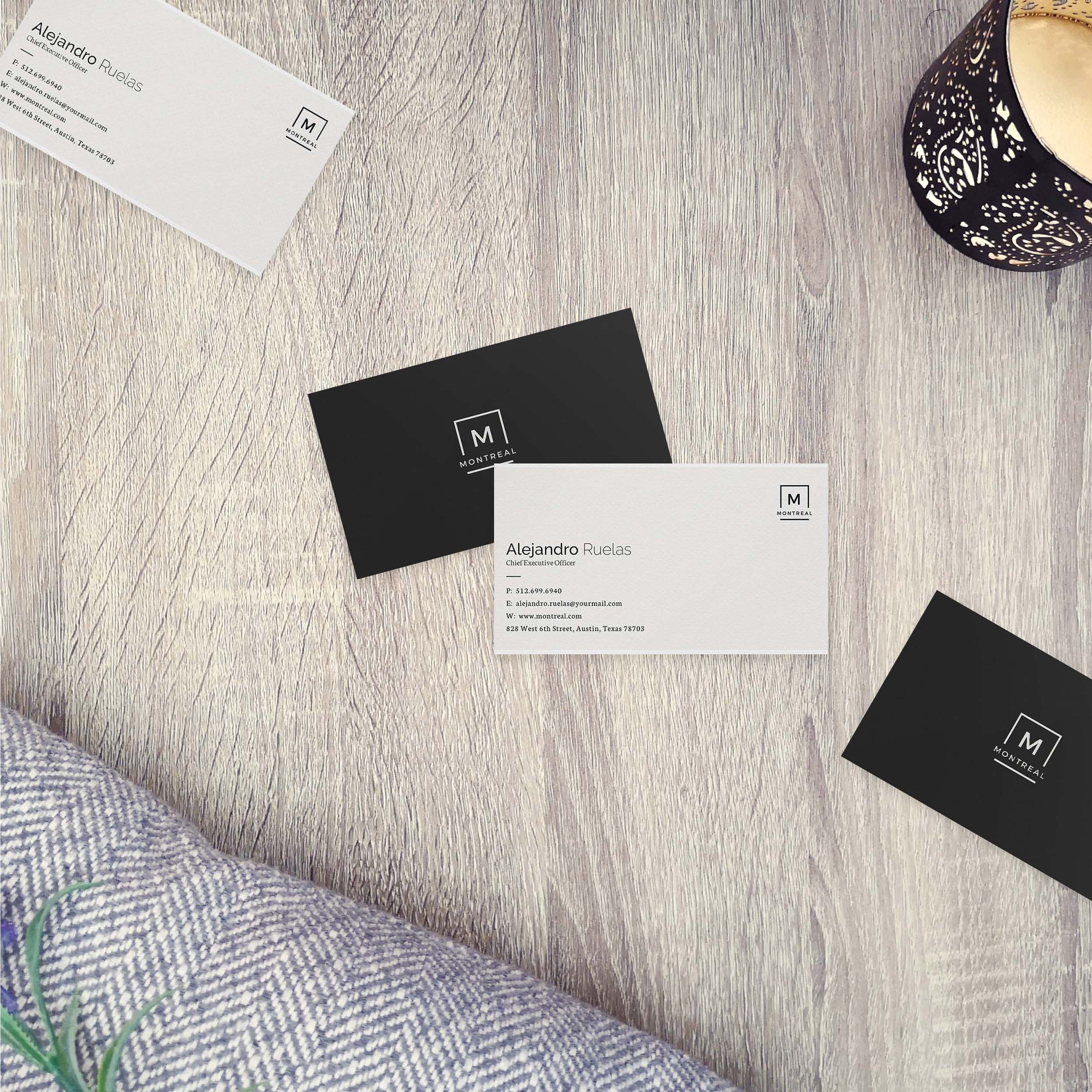Free PSD Corporate Business Card Mockup