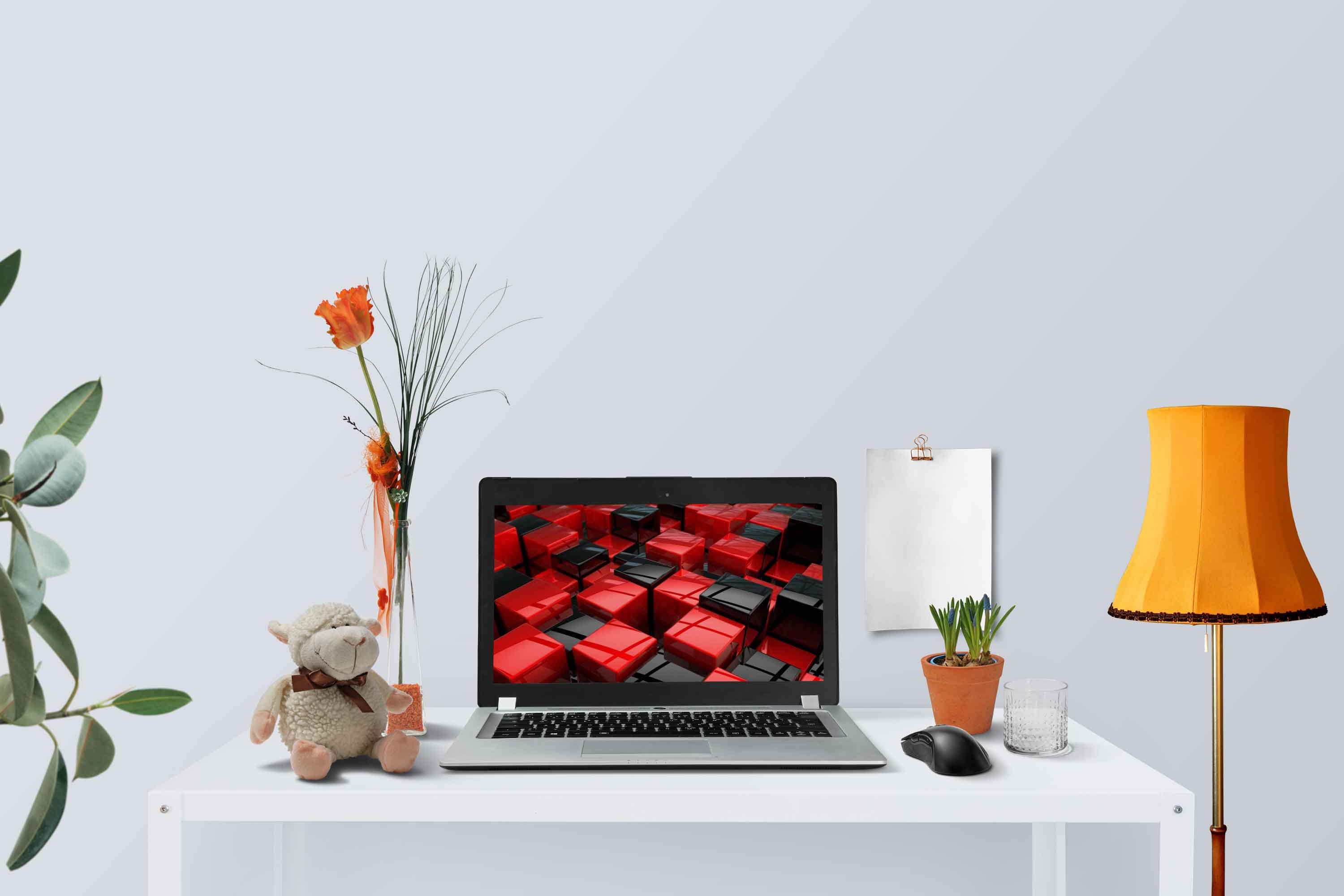 Free PSD Laptop Display Mockup