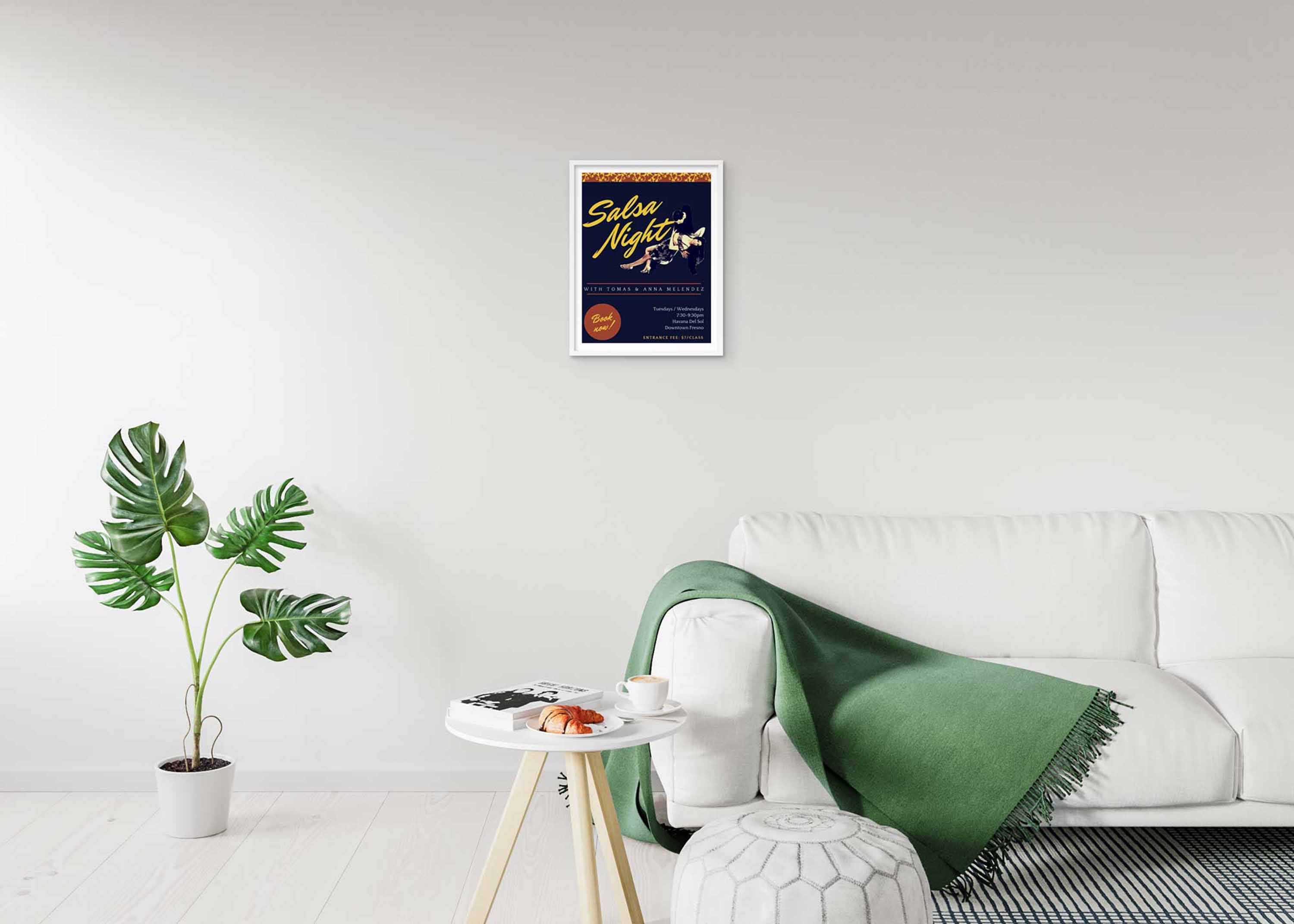 Free Psd Living Room Wall Poster Mockup Psd Premium Mock Up