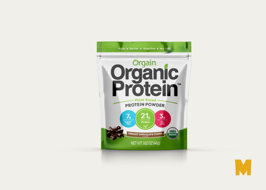 Free PSD Protein Powder Pouch Label Mokcup