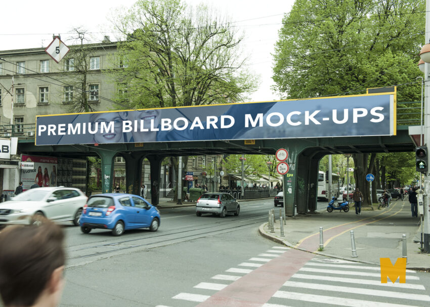 Free PSD Rectangle Sleek PSD Billboard Mockup