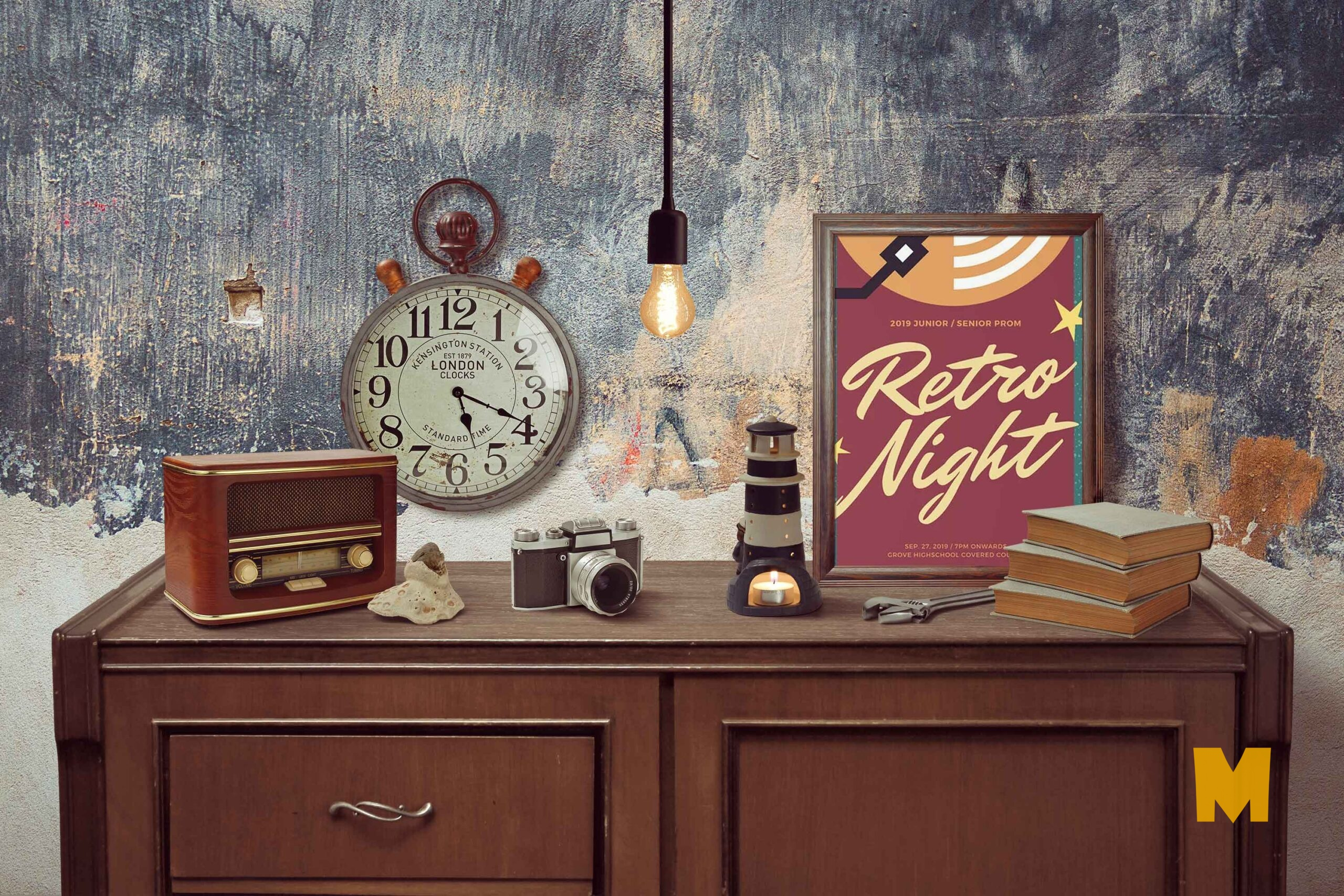 Free PSD Table Accessories Artwork Mockup