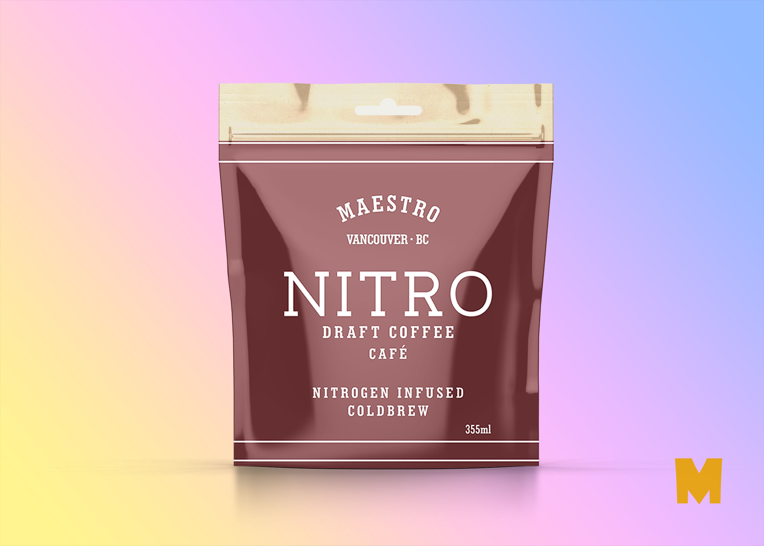 Free PSD Transparent Pouch Coffee Brew Mockup