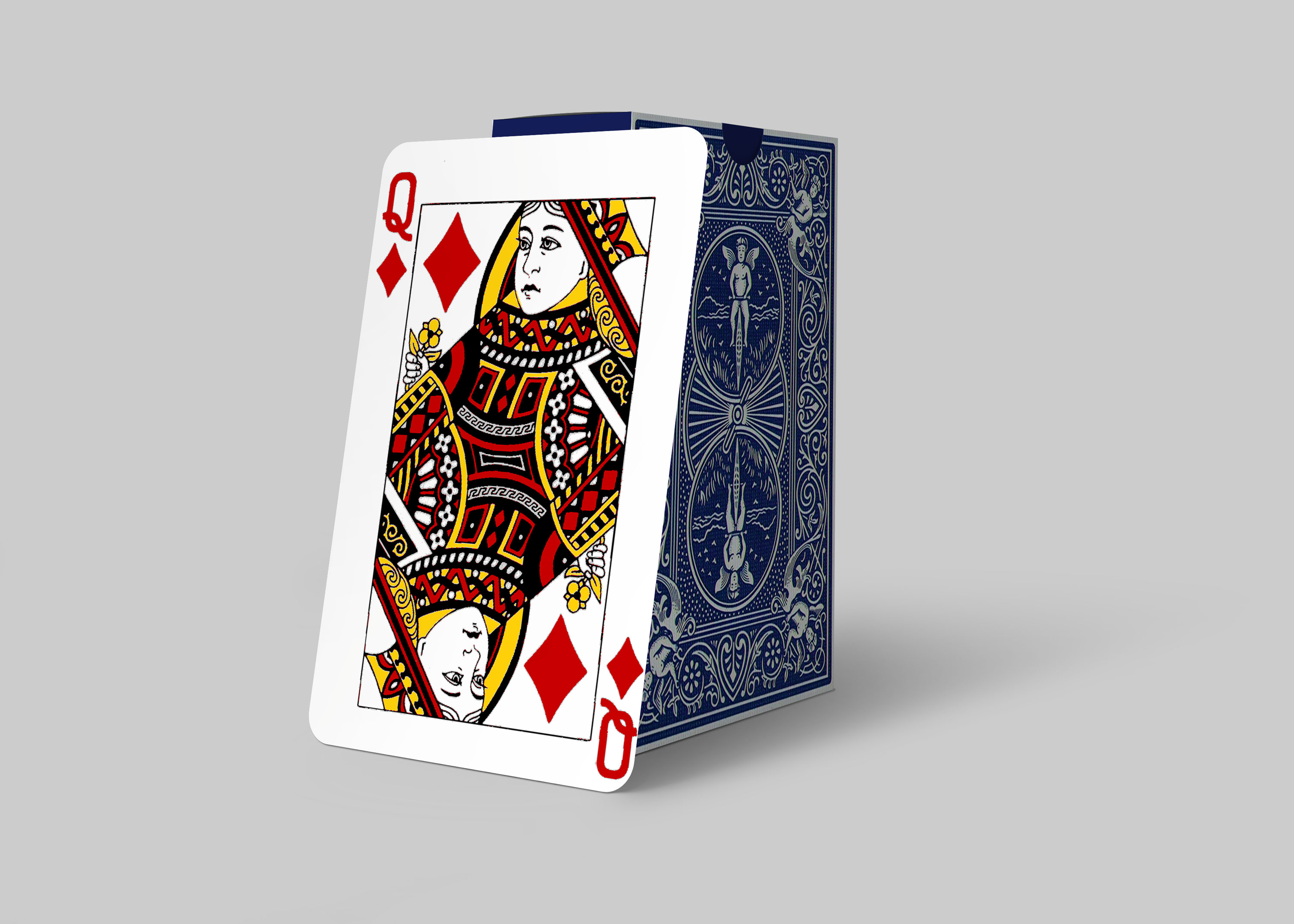Free Playing Card Queen Card Design Mockup