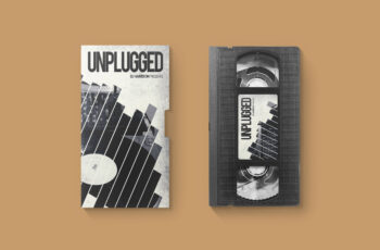 Free Video Casette Label Design With Cover Mockup