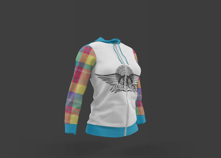 Free Young Girl Jogging Jacket Mockup