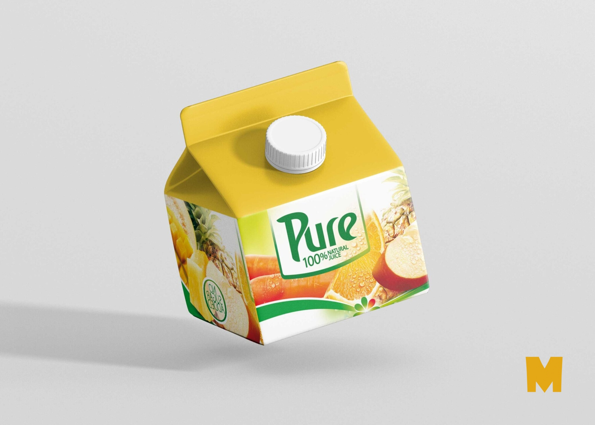 Mockup Curd Package Presentation