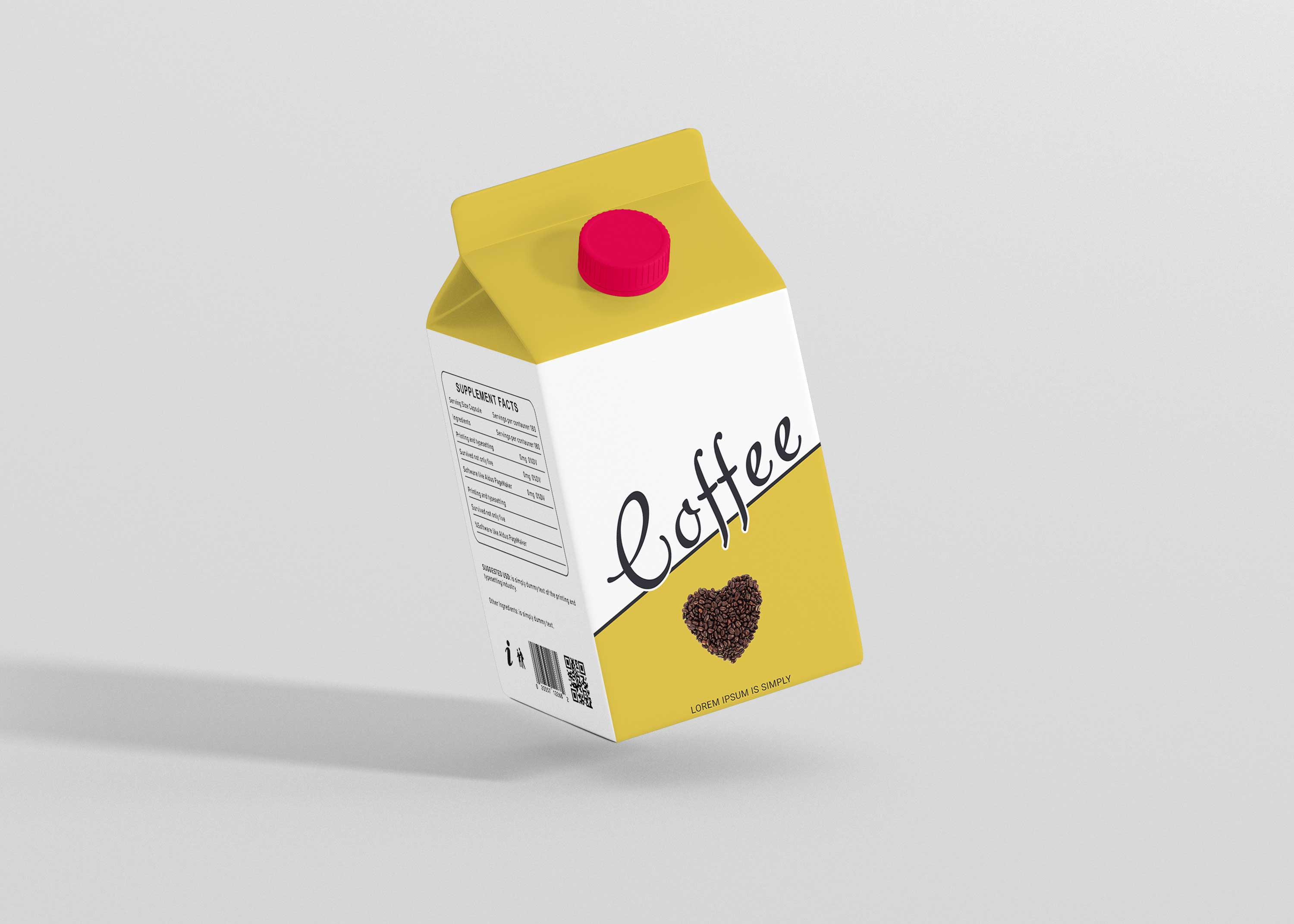 Mockup Milk Package Presentation