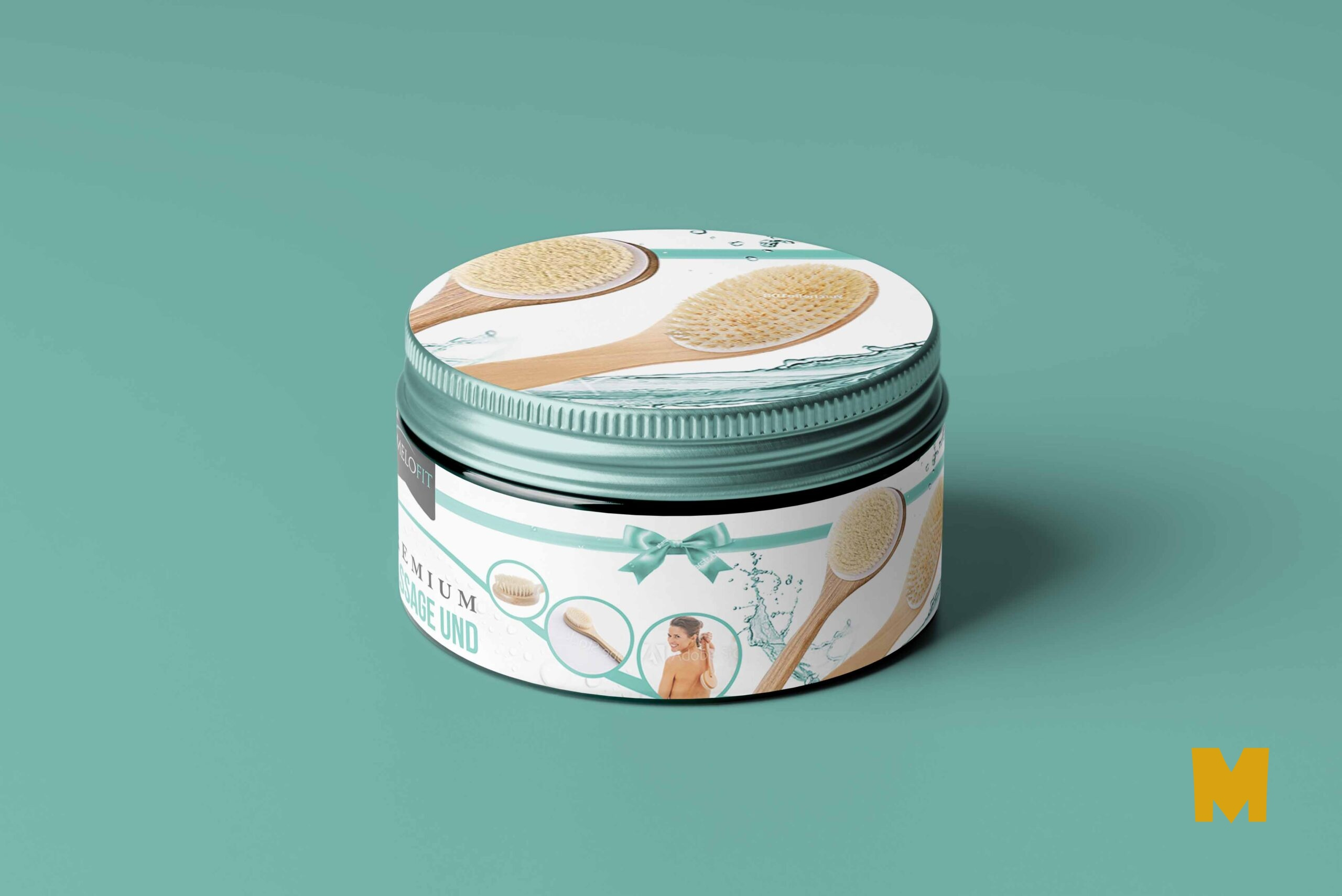 Cosmetic Oral Cream Label Mockup