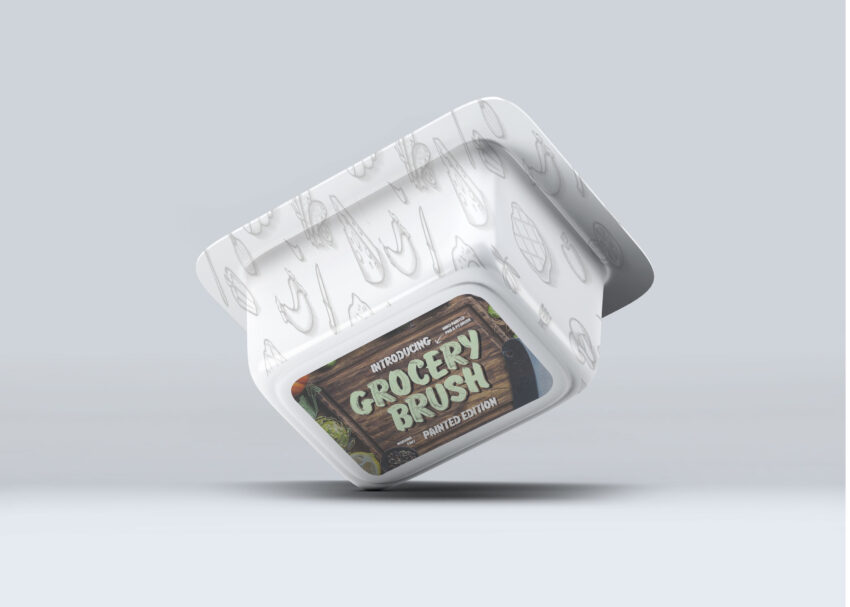 Free Chicken Piece Packaging PSD Label Mockup