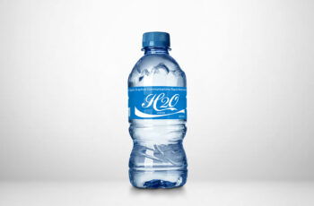 Free Download Small Water Bottle Label Mockup