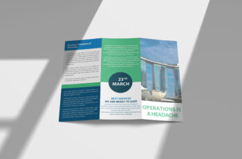 Free New Hospital Tri-Fold Brochure PSD Mockup