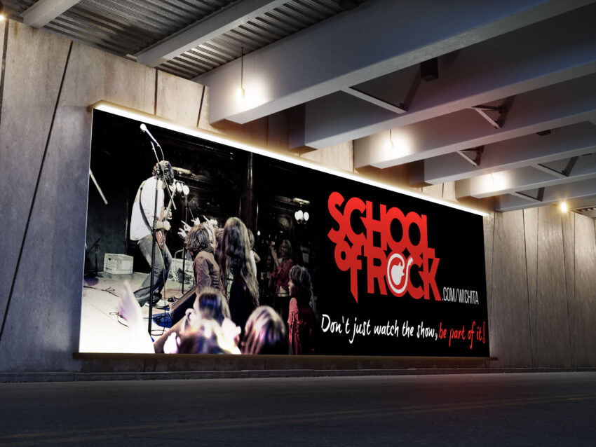 Free PSD Rock Band Event Banner Mockup