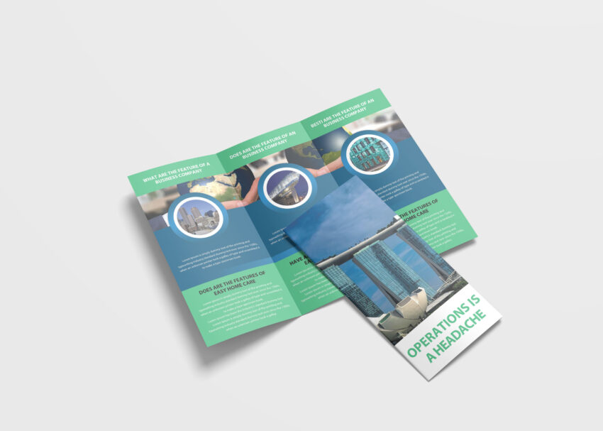 Free PSD Tri Fold Corporate Brochure Mockup