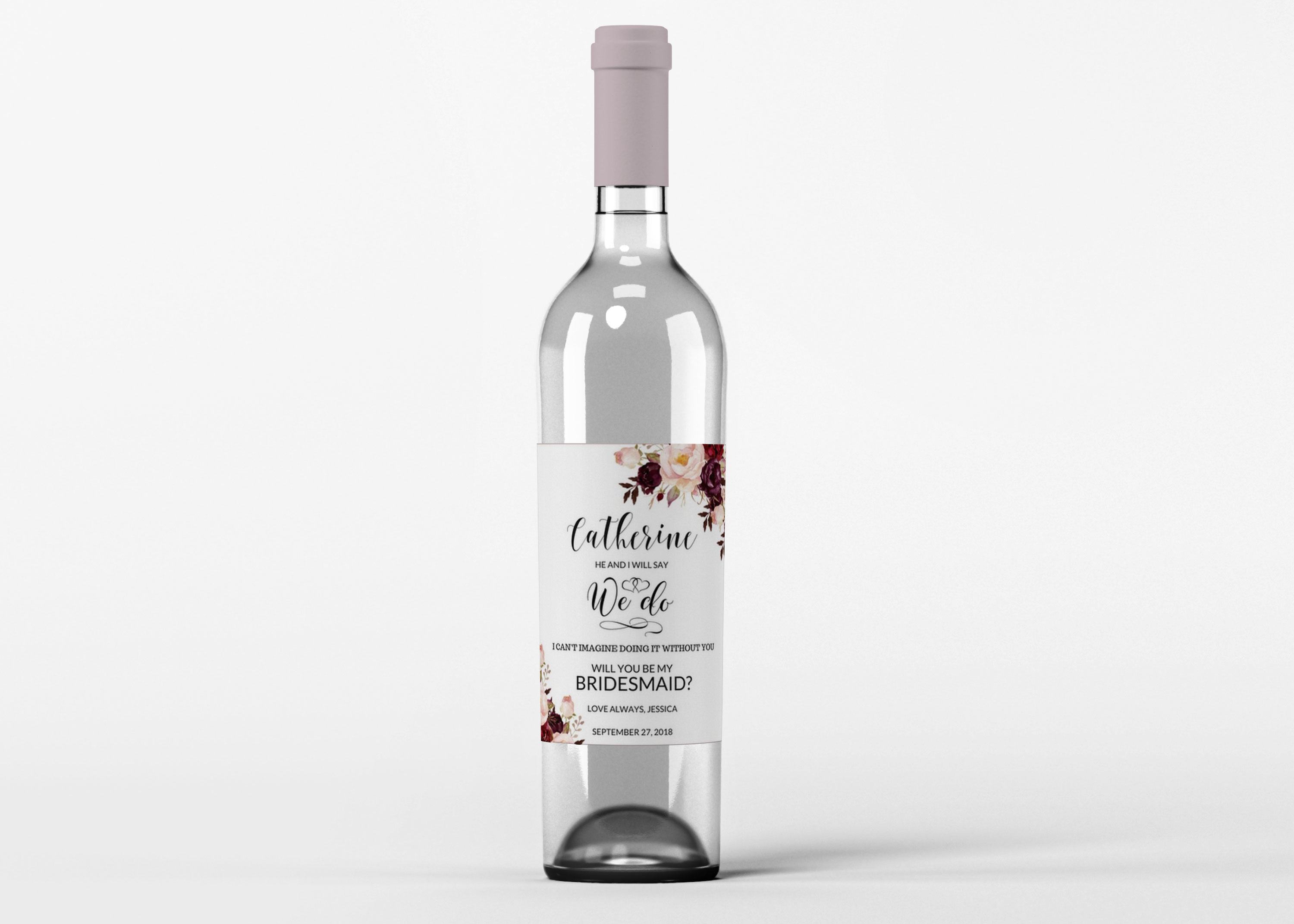 Free PSD Vodka Bottle Label Mockup