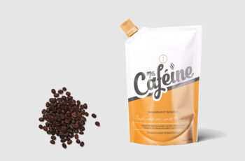 New Coffee Beans Pouch Label Mockup